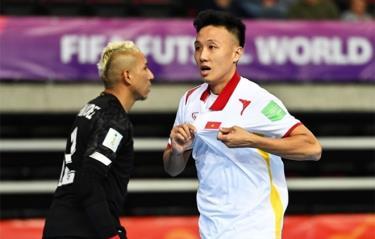 Minh Trí ghi bàn thắng ở hai kỳ World Cup liên tiếp cho tuyển futsal Việt Nam.
