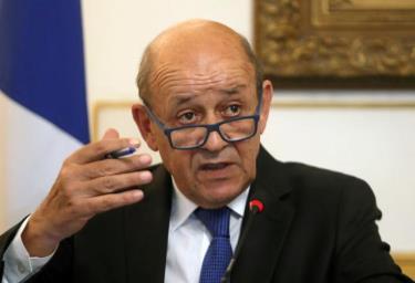 Ngoại trưởng Pháp Jean-Yves Le Drian. Ảnh: Reuters