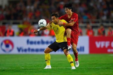 Đội tuyển Malaysia (áo vàng) thua Việt Nam cả hai trận ở vòng loại thứ hai World Cup 2022.