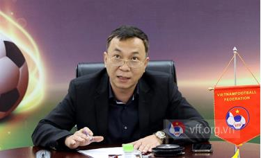 Phó chủ tịch thường trực LĐBĐVN Trần Quốc Tuấn tham dự cuộc họp trực tuyến của Ban thi đấu AFF.