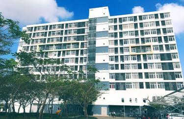 Tòa nhà trong Khu FPT City Đà Nẵng sẽ được bố trí trước mắt cho các em ăn, ở tại đây.