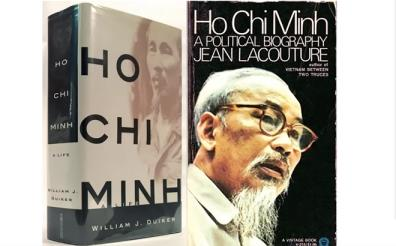 The cover of the 1967 book entitled 'Ho Chi Minh: A Political Biography' by French journalist Jean Lacouture.