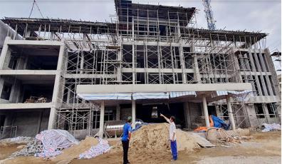 Công trình trụ sở UBND phường Đồng Tâm đến nay đã hoàn thành trên 75% khối lượng công việc.
