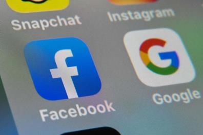 Ảnh minh họa các biểu tượng ứng dụng Google, Facebook trên điện thoại