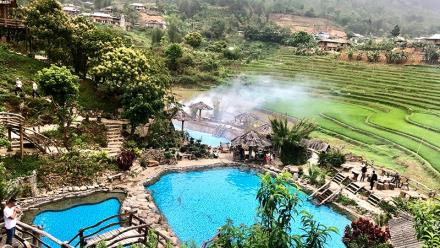 Tram Tau hot spring in Yen Bai
