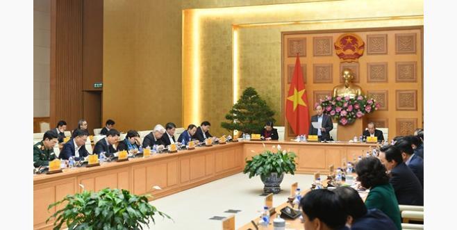 Thủ tướng chủ trì phiên họp.