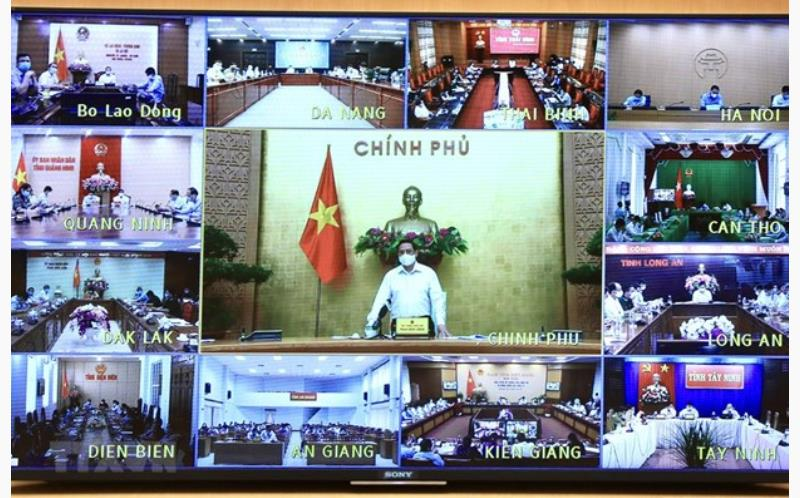 PM Pham Minh Chinh chairs the online meeting